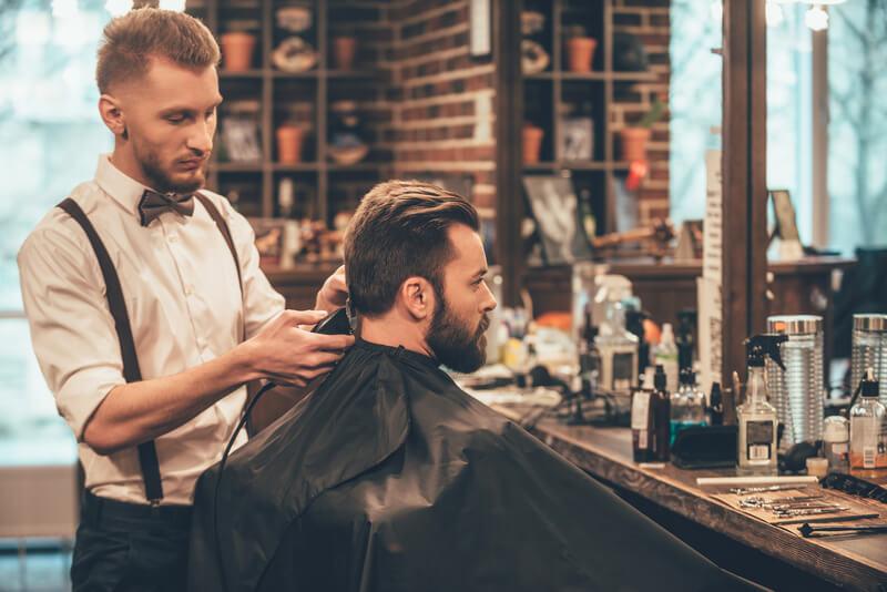 eerst keer in een barbershop